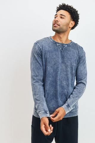 Men's Mineral Wash Pullover-2 Colors