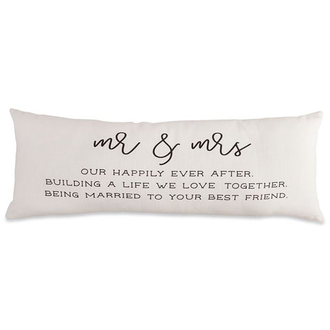Mud Pie Mr. & Mrs. Pillow