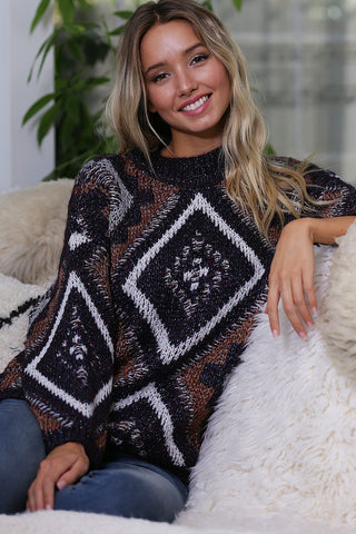 Mulit-Color Knit Sweater