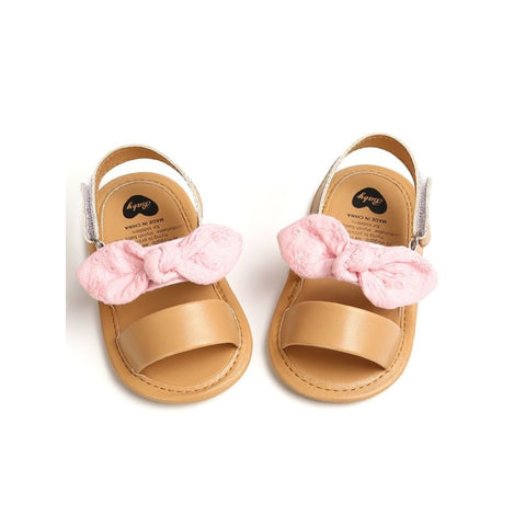 Baby Girl Bow Trimmed Sandal Pink