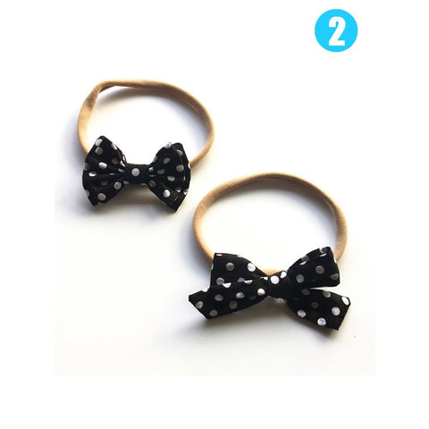 Polka Dot Bow Headband