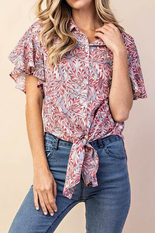 Ruffles and Florals Blouse
