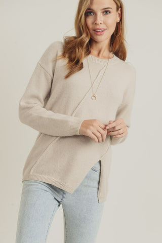 Asymmetrical Tan Sweater