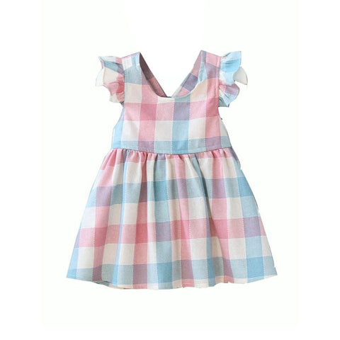 Toddler Pastel Gingham Dress