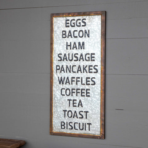 What;s for Breakfast Metal Sign