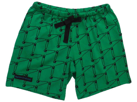 ladies' women's sleep shorts summer 'safety first' green