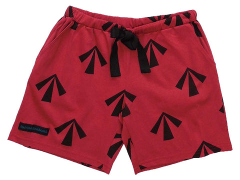 ladies womens sleep shorts summer convict arrow red