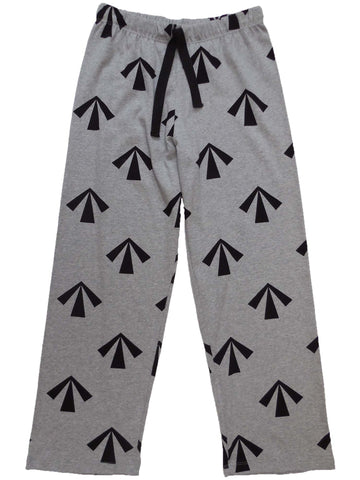 mens & womens long pyjama pants 190 gsm convict arrow grey