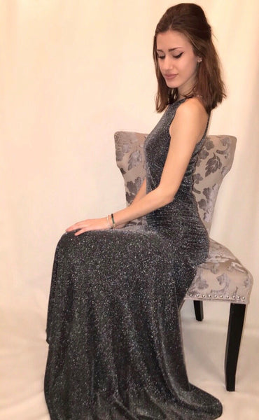 Grey Star Dust Gown