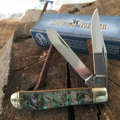 RR337 Rough Rider Trapper Pocket Knife Imit. Abalone Handles