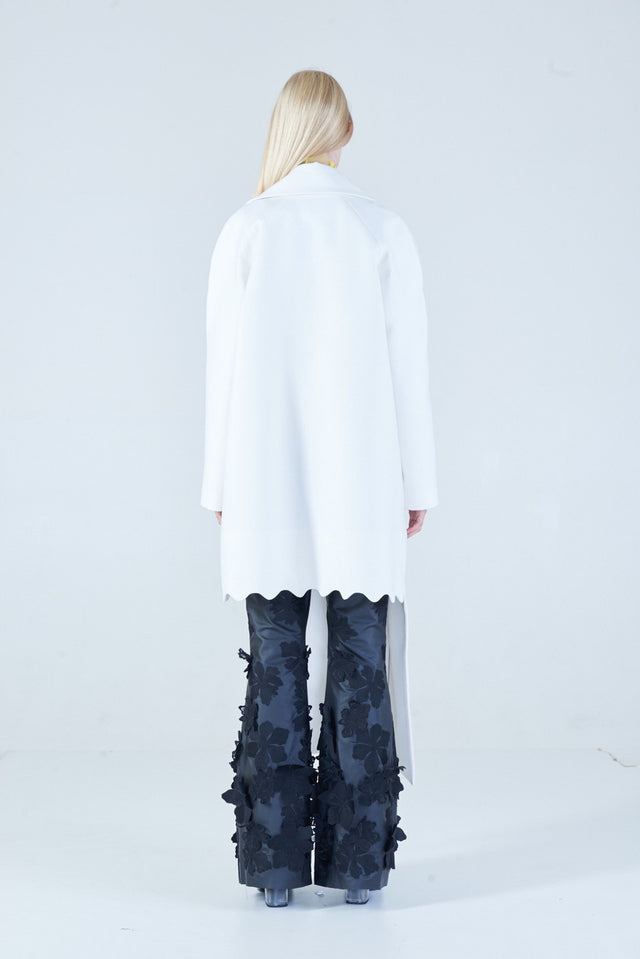 Anu Scallop Coat White