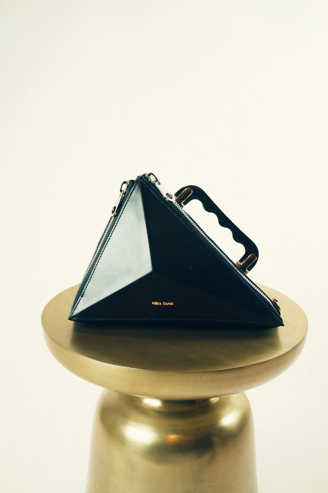Texahedron Gold Clutch Handbag