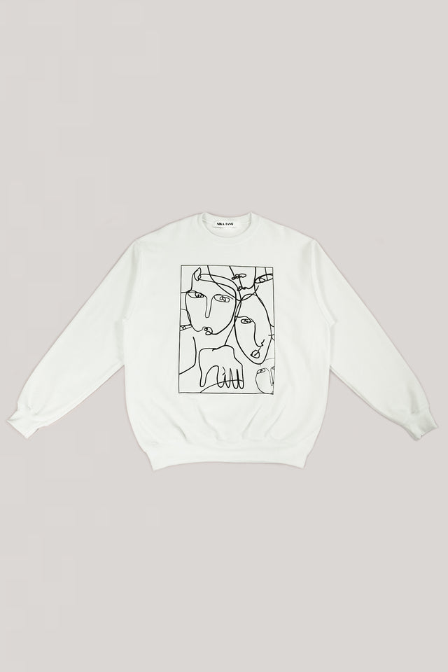White Portrait Sweatshirt