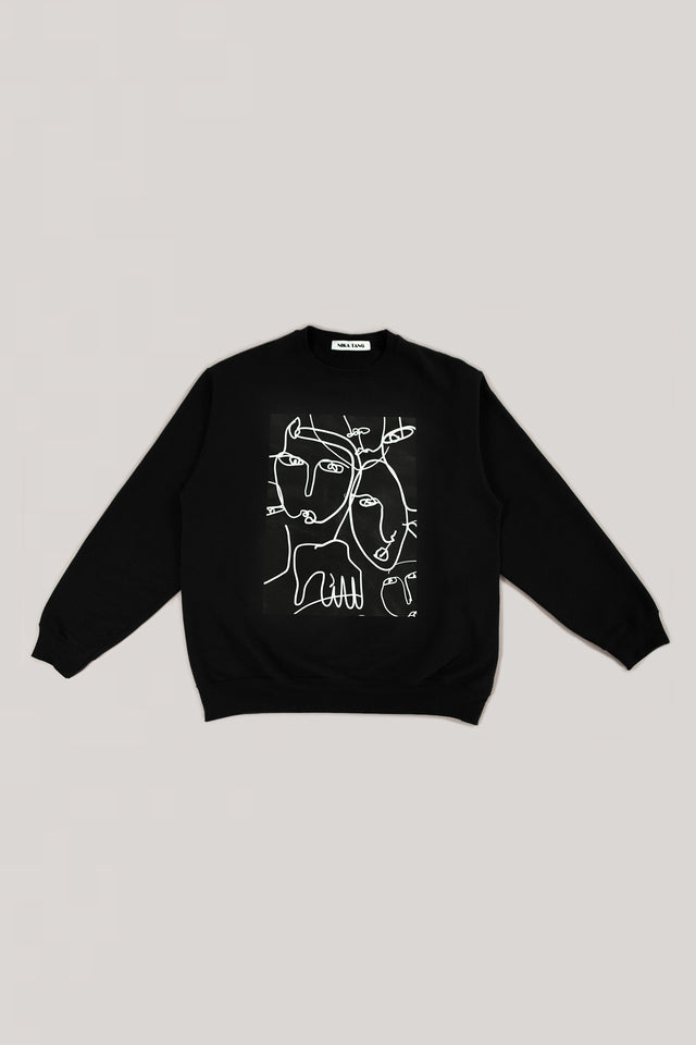Black Portrait Sweatshirt