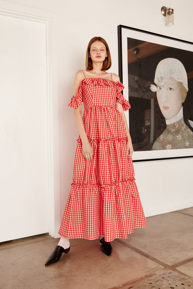 SS19 Preorders - Red Cameo Dress