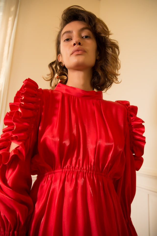 SS18 PREORDER - Doreen Dress Red