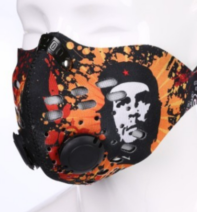 Orange Che Guevara Neoprene Printed Mask