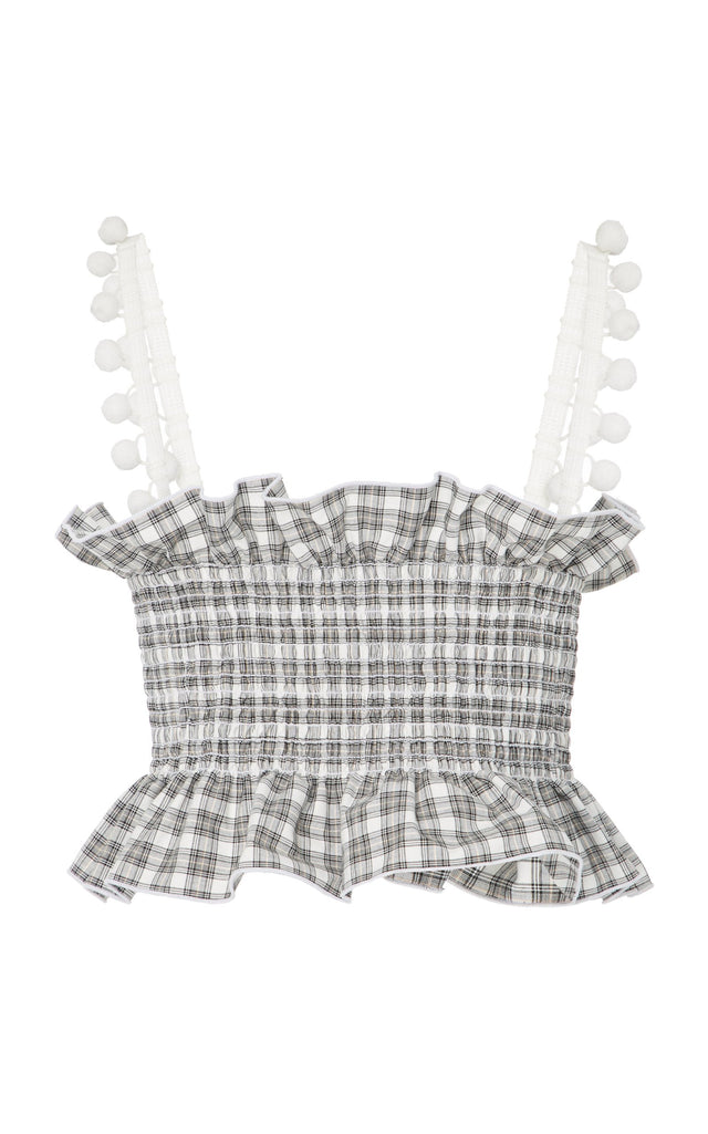Helena Top Plaid