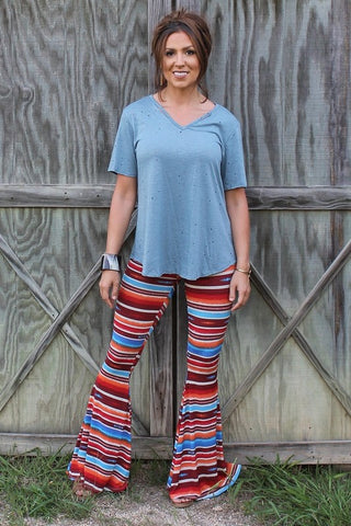 Tequila Sunrise Bell Bottoms