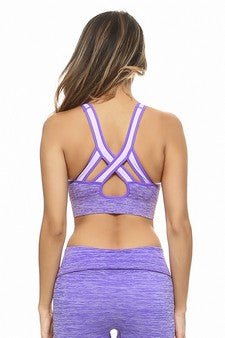 Purple Ombré Sports Bra