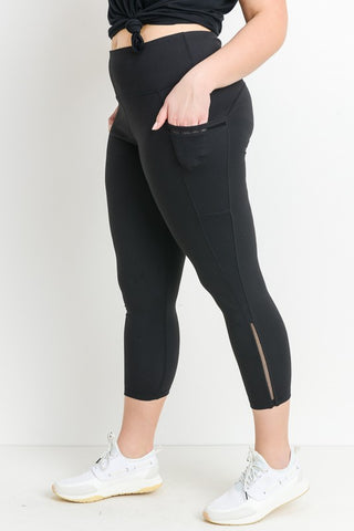 Side Mesh Active Capris With Pockets