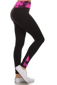 Ink Blot Fuchsia Active Pants