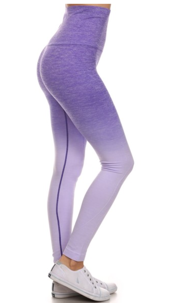 Purple Ombré Active Pants