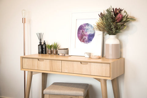 Ingrid console table with drawers