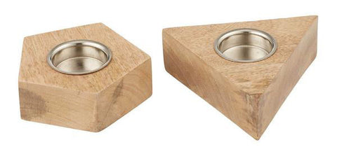 Atticus Tealight Candle Holder - Pentagon