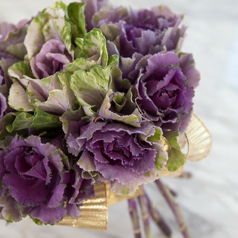 Ornamental kale flower bouquet by Jen Causey of Something Turquoise