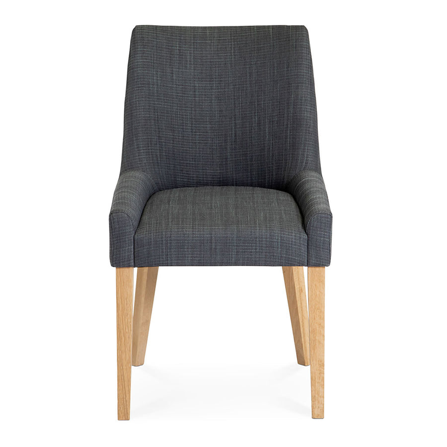 Anton Scandinavian Wooden Oak and Dark Grey Linen Dining Chair  INTERIOR SECRETS DC788STE-VN Ella Scoop Back Steel Upholstered Dining Chair MATT BLATT Bristol Dining Chair LIFE INTERIORS Stockholm Hug Dining Chair (Set of 2)