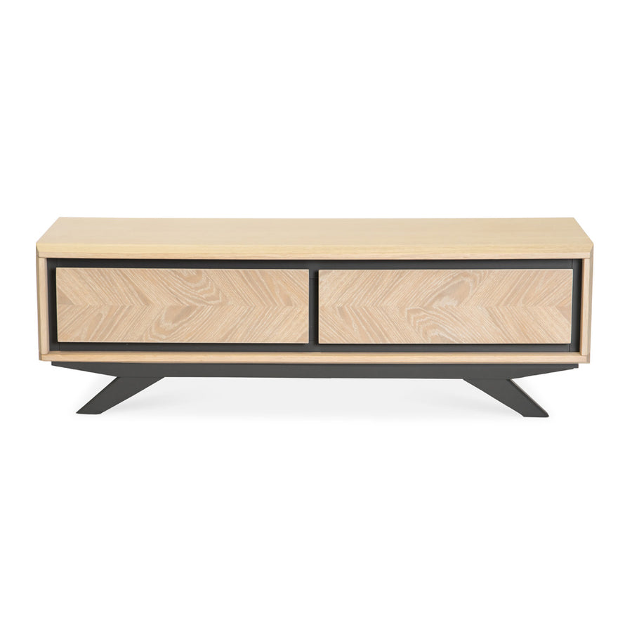 Archer Modern Scandinavian Wooden Oak Coffee Table With Drawers
