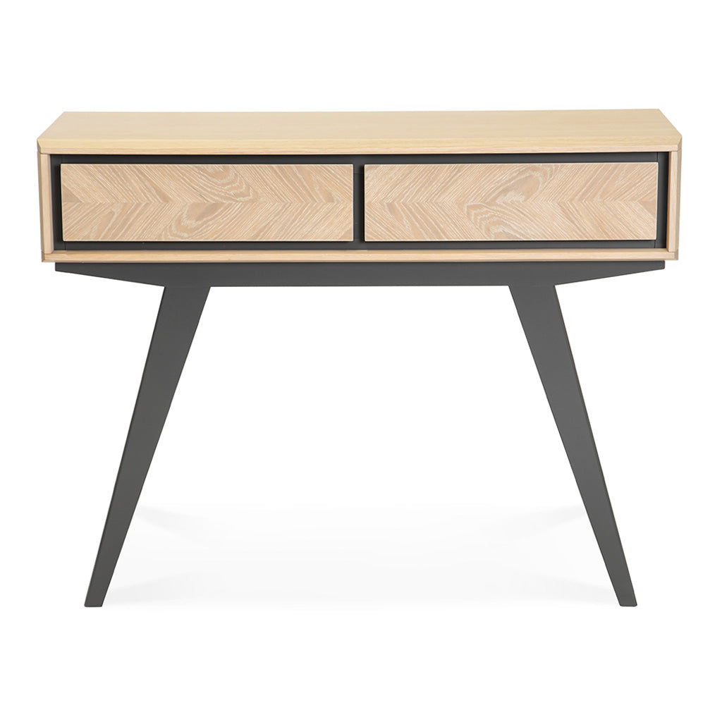 Archer Scandinavian Wooden Oak Console Table With Drawers The Design Edit