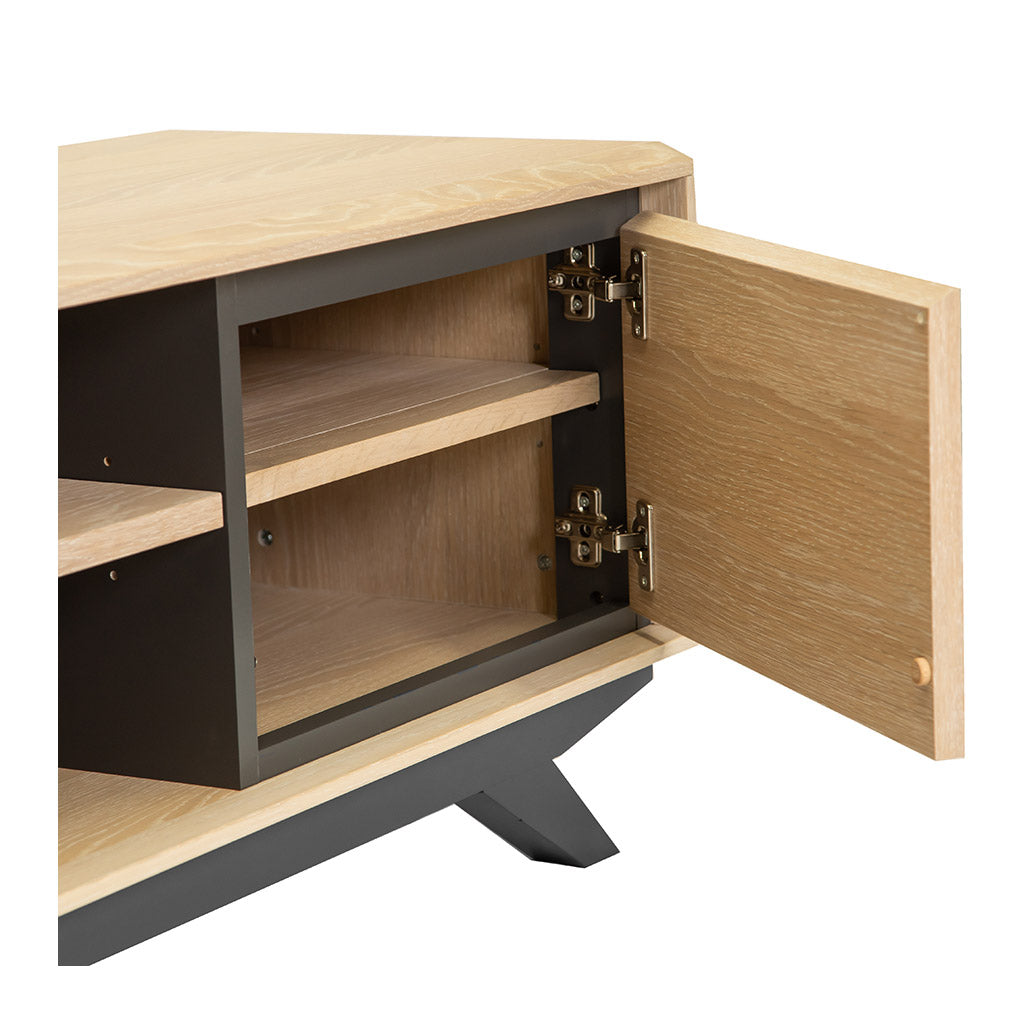 Archer Modern Scandinavian Wooden Oak Wide Entertainment Unit INTERIOR SECRETS  TV2003-VN Helga Entertainment TV Unit