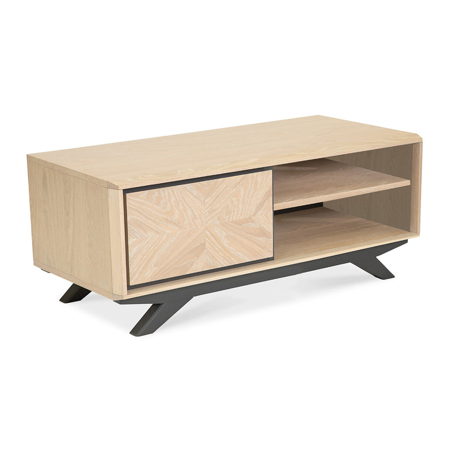 Archer Modern Scandinavian Wooden Oak Entertainment Unit