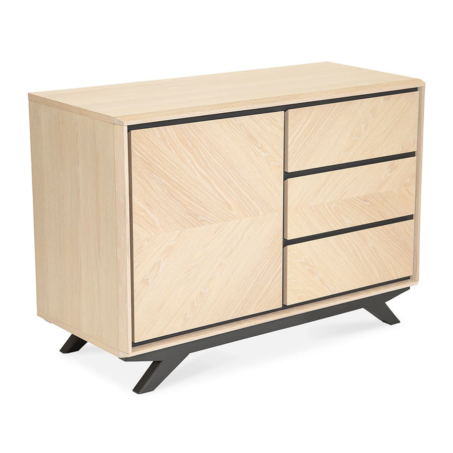 Archer Modern Scandinavian Wooden Oak Sideboard INTERIOR SECRETS  DT2011-VN Helga Narrow Sideboard and Buffet