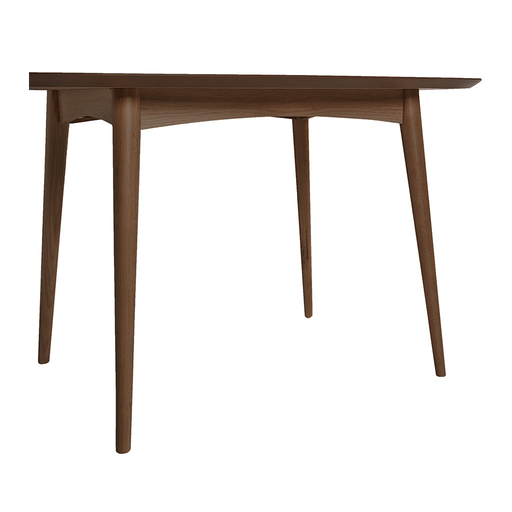 Caleb Retro Scandinavian Walnut and Beech Wood 4 Seater Dining Table LIFE INTERIORS Stockholm Dining Table (Walnut, 129cm)