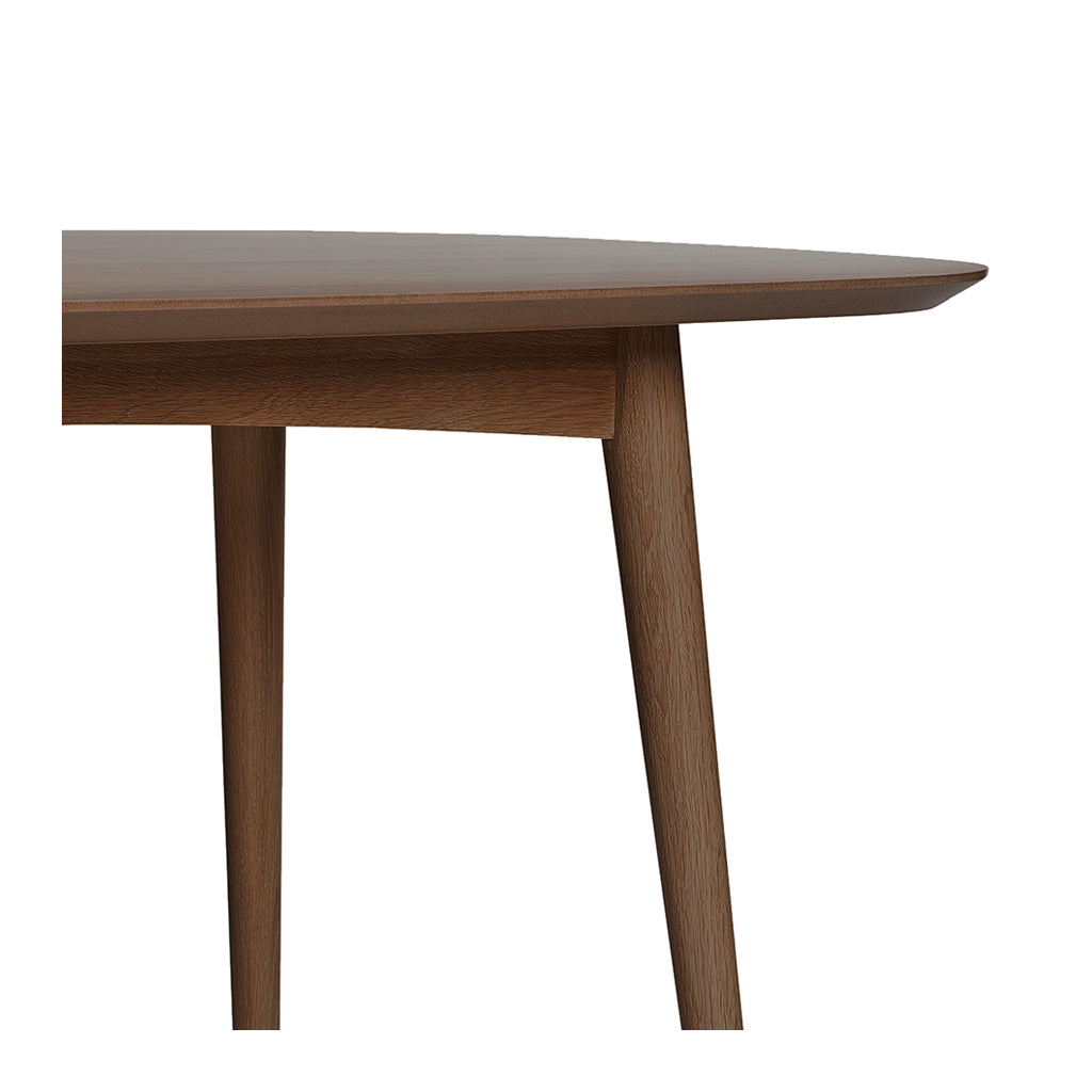 Caleb Retro Scandinavian Walnut and Beech Wood 6 Seater Dining Table LIFE INTERIORS Stockholm Dining Table (Walnut, 175cm)