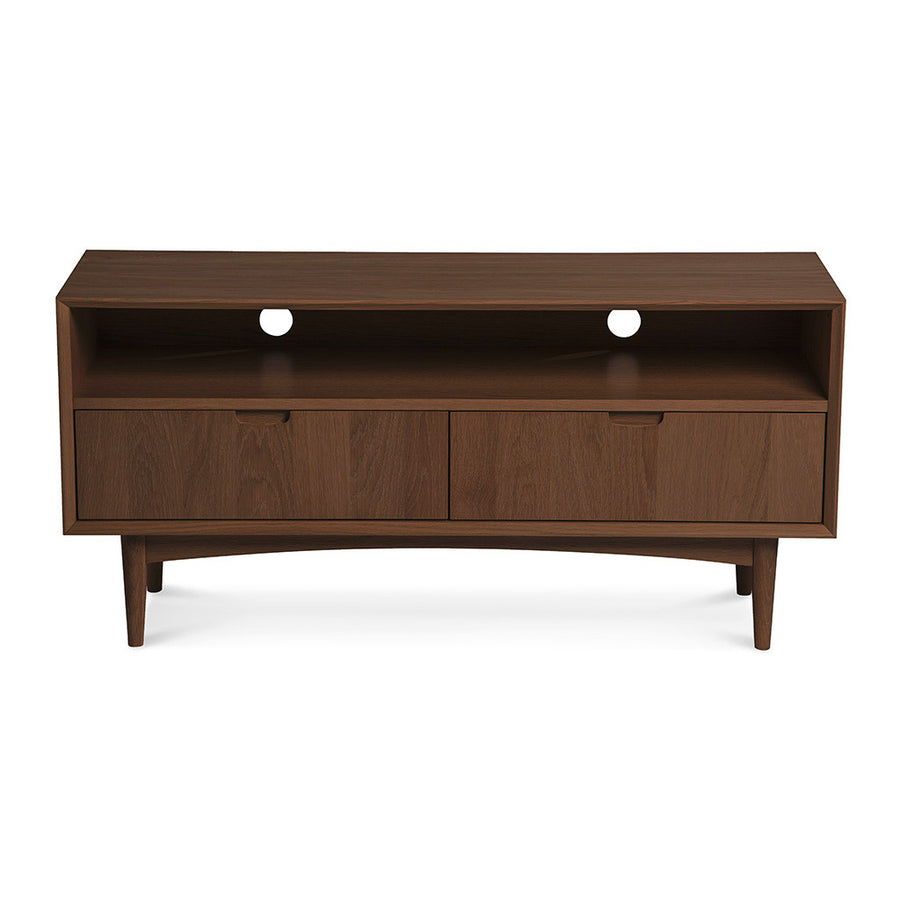Caleb Retro Scandinavian Walnut and Beech Wood Entertainment Unit INTERIOR SECRETS  TV140WAL-VN Johansen Scandinavian Lowline TV Unit - Walnut, LIFE INTERIORS Stockholm Entertainment Unit (Walnut)
