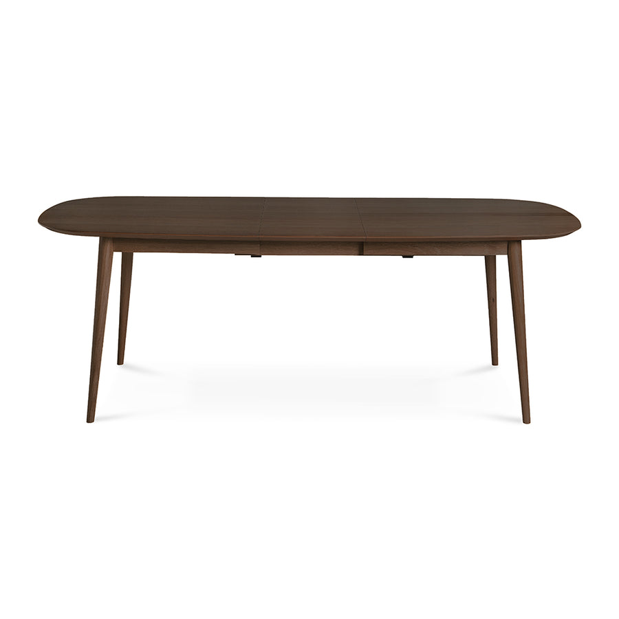 Caleb Retro Scandinavian Walnut and Beech Wood Extendable 6 - 8 Seater Dining Table INTERIOR SECRETS  DT780WAL-VN Johansen 1.75-2.15m Extendable Dining Table - Walnut, LIFE INTERIORS Stockholm Extension Dining Table (Walnut)