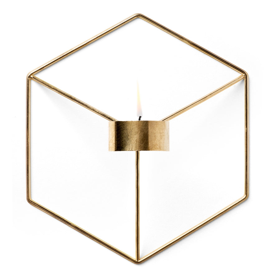 Candle Holders Menu POV Wall Candle Holder - Brass 4766839