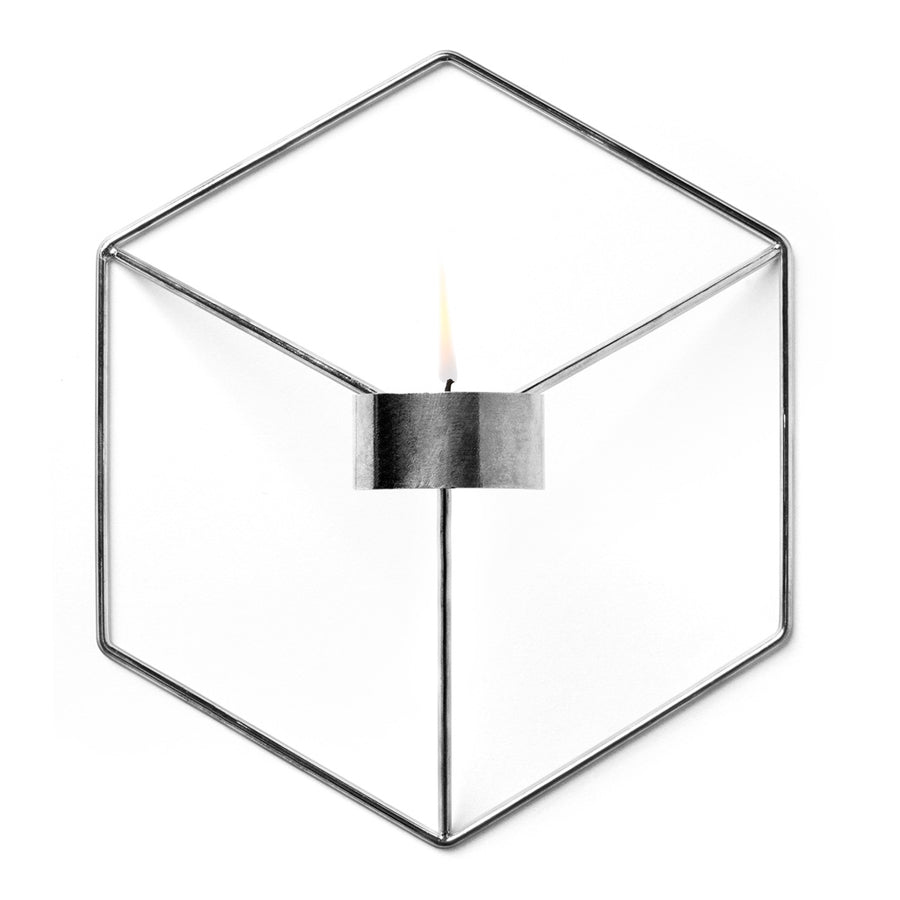 Candle Holders Menu POV Wall Candle Holder - Chrome 4766039