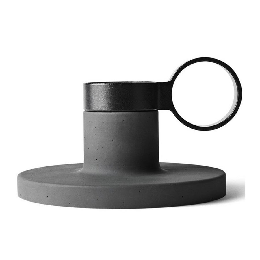 Candle Holders Menu Weight Here Candleholder - Medium, Dark Grey 4757159