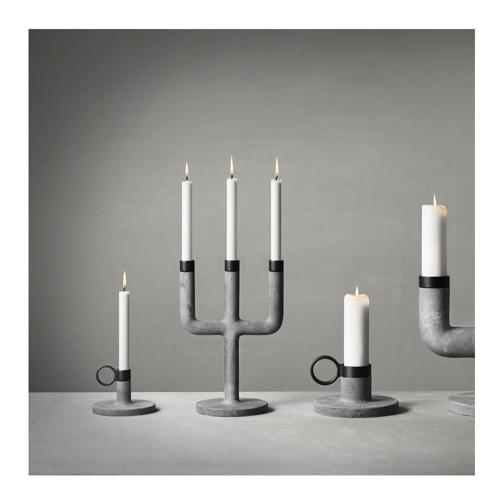 Candle Holders Menu Weight Here Candleholder - Small, Grey 4756139