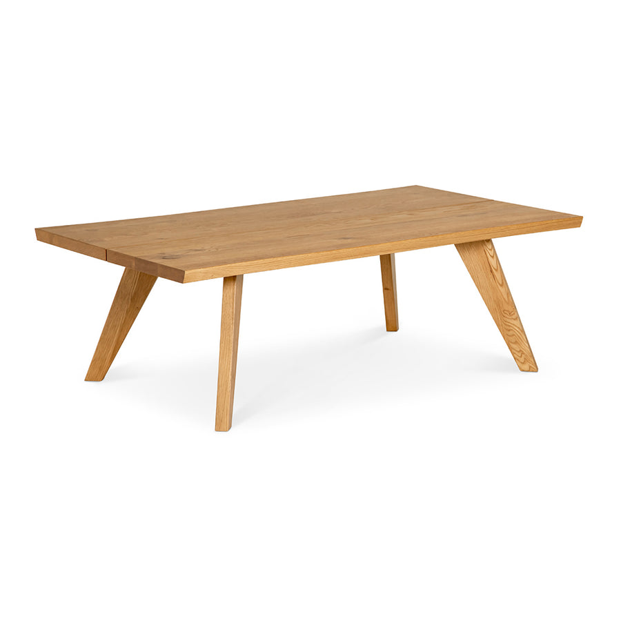 Carlsen Rustic Scandinavian Wooden Oak Coffee Table