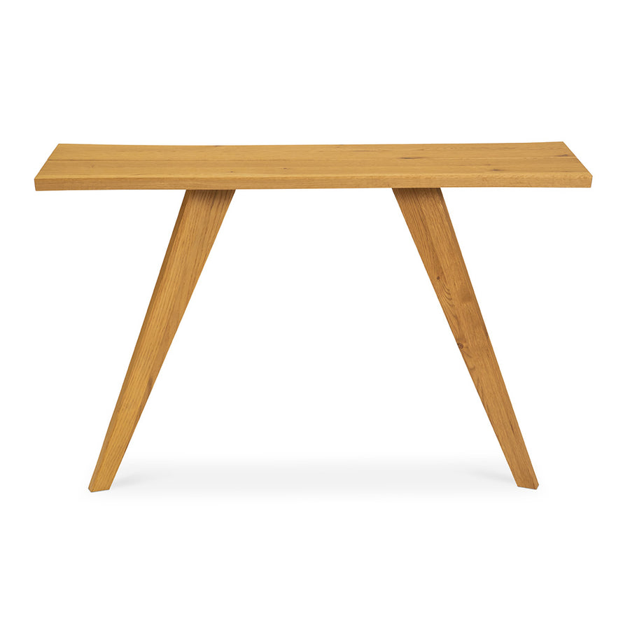 Carlsen Rustic Scandinavian Wooden Oak Console Table
