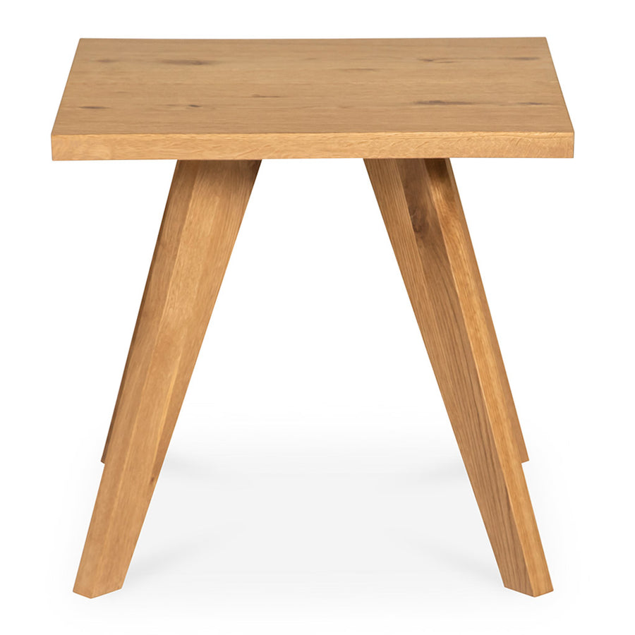 Carlsen Rustic Scandinavian Wooden Oak Side Table