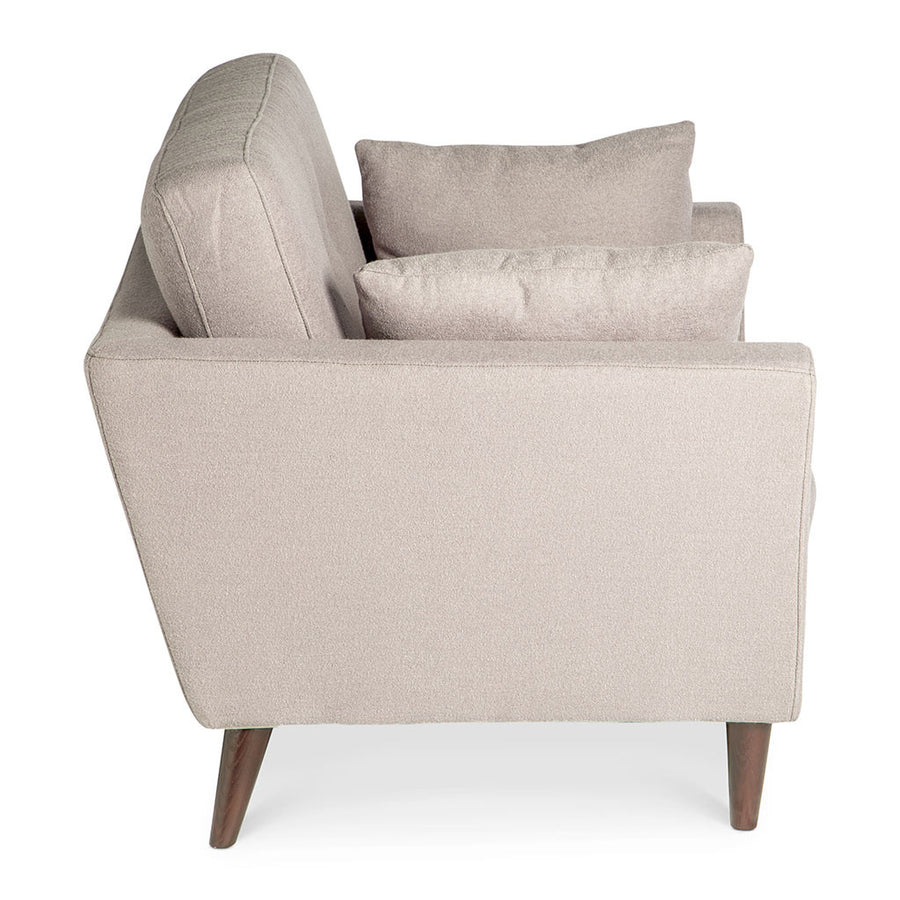 Classic Scandinavian Winston Cashmere Armchair in Light Grey