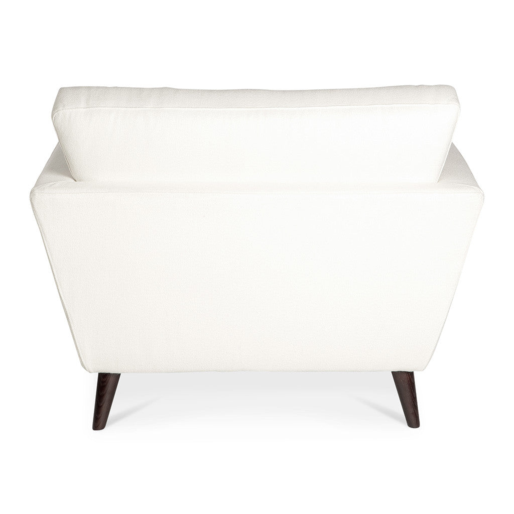 Classic Scandinavian Winston Cashmere Armchair in White