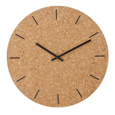 Forester Cork Wall Clock by Amalfi
